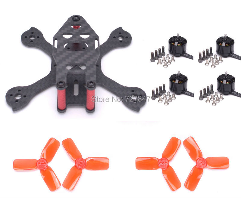 Tiny iX2 90mm Micro FPV Racing Frame Kit +1104 4000KV brushless motor + 2030 Propeller for Iflight mini Drone<br>