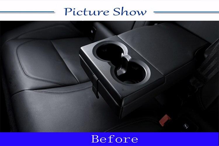 Monland Copertura del Telaio del Portabicchieri della Posteriore per Alfa Romeo Giulia 2016-2020 Accessori nel ABS Stile Fibra di Carbonio per Auto