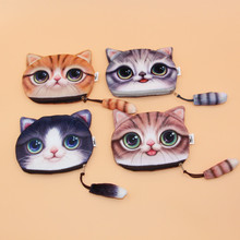 Small Change Storage Bags Mini coin bag Cat zero wallet Hand cartoon wallet