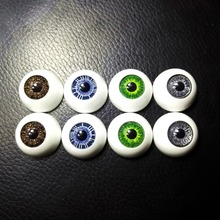 8pcs(4Pairs) BJD 20MM dolls eyes Plastic eyeballs Reborn Acrylic doll accessories Mix Colors Half Round Eyes for Toys DIY,TR