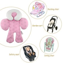 Baby Stroller Cushion car seat accessories Head Body Support Carriage thermal Pad Mat Dual Sided Use Safety Rattle Baby Safety(China)