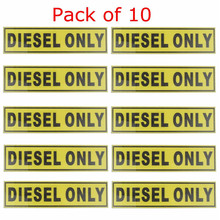 10pcs For DIESEL ONLY Vinyl Sticker Decal Label Oil Warning Fuel Cap Vinyl Safety Truck Oil Gas Fuel Truck Marker 31*156mm