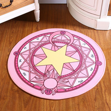Pink Sakura Magic Circle Children Round Kids Bedroom velvet Carpets Cartoon Baby crawl Rugs Computer Chair Puzzle Mats
