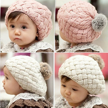 new autumn winter faux rabbit fur crochet baby beanie kids hats newborn bebes bonnet cap for 0-3 year old girl,photography props(China)