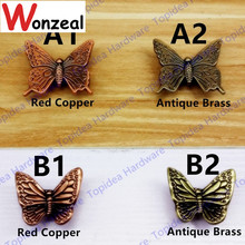 36mm/43mm Antique Style Butterfly zinc alloy single hole decorative furniture knobs/handles/pulls for doors/cabinets/cupboards