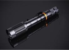 CREE XM-L T6 5000LM High Power Torch Zoomable LED Flashlight, Five speed dimming, SOS function, Use DC 3.7v 2*18650 battery