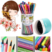 papelaria watercolor pen set children's drawing pen can be washing crayons water color marker manga brush pen(China)