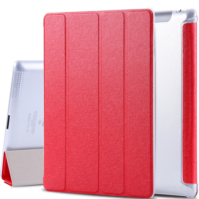 Super Stand Support Four Folders Case For Apple iPad 2 3 4 Slim Light Slik PU Leather Flip With Transparent Clear Matte Cover<br><br>Aliexpress