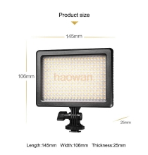 Buy 8w 3200K-5600K Panel pad LED Video Light canon nikon pentax DSLR Camera DV Camcorder for $67.95 in AliExpress store
