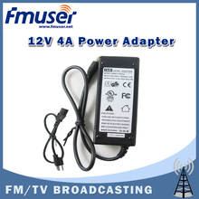Free shipping FMUSER 12V 4A high quality DC Power supply Power adapter CE FCC UL certificate for 7w 10w 15w 7w FM transmitter(China)