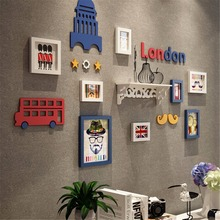 13pcs/14pcs/15pcs London Styles Photo Picture Glasses Wood Frame Sets For Wall Pictures,  Home Decorative Art Print Painting
