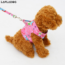 Hot sale service dog vest pet accessories puppy leads luxury small dog harness flower print dog collar and leash set ZL287