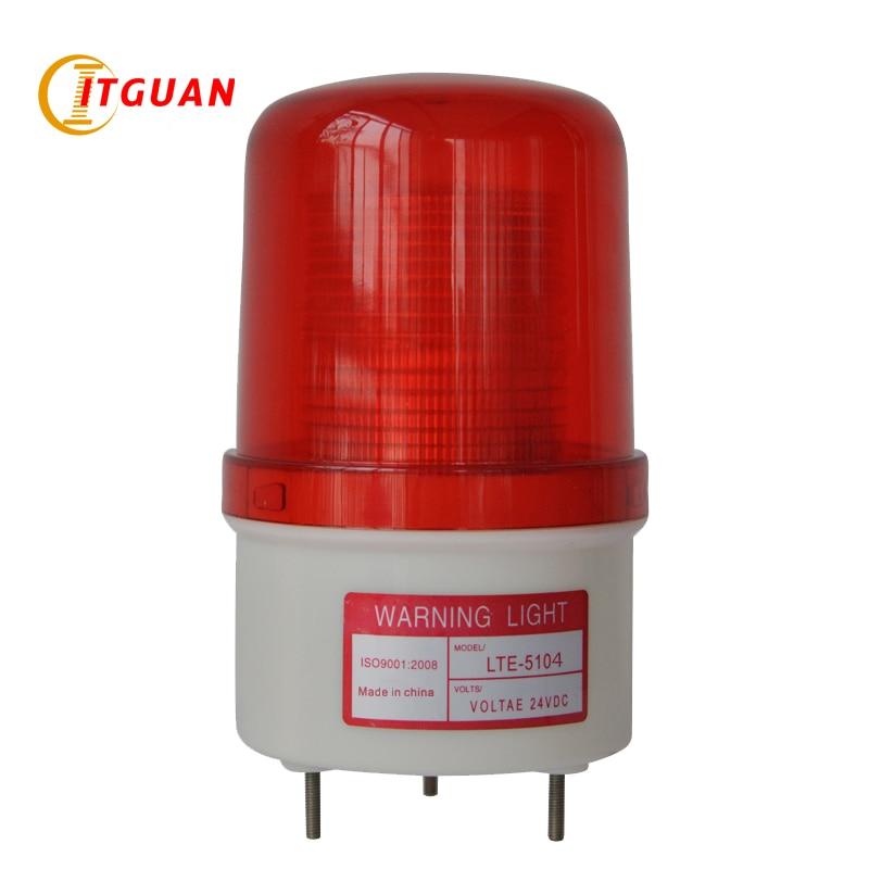 LTE-5104J warning light alarm strobe lights  DC12V profession industrial led flash strobe warning lights with 85dB buzzered<br>