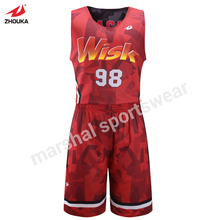 hot sale women double mesh basketball jersey full sublimation custom reversible jersey OEM any color logo(China)