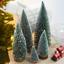 10-25 cm Mini Christmas Tree  Artificial Christmas Trees Tabletop Tree Assorted Pine Trees Christmas Xmas  Decoration for Home