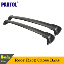 Partol Car Roof Rack Cross Bar CrossbarsTop 150LBS Cargo Luggage Carrier roof rack crossbars Black For Honda CRV 2012 2013-2015