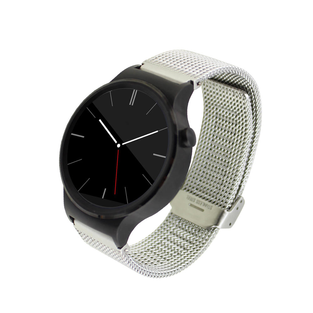 silver watch band with adapter for huawei smart watch band stainless steel net mesh strap Snap clasp bracelet<br><br>Aliexpress