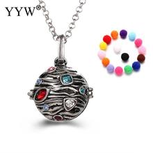 YYW Round Antique Perfume Aromatherapy Pendant Essential Oil Diffuser Pregnant Ball Locket Cage Colorful Pendant Women's Gift