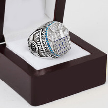 Free shipping Replica 2011 NEW YORK GIANTS SUPER BOWL XLVI football world championship ring with wooden gift box high quality