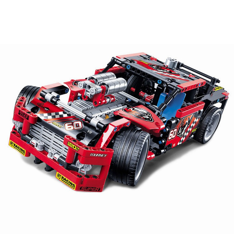 Decool-3360-The-Race-Truck-Car-608Pcs-Technic-Series-Transformable-2-in-1-Models-Building-Blocks (1)