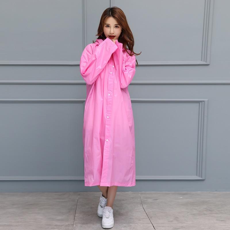 Home & Garden Household Merchandises Fashion-outdoor Women Waterproof Riding Clothes Raincoat Poncho Pocket Polka Dot Hooded Knee Long Rainwear Nylon Navy Blue