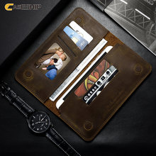 CASESHIP Wallet Case For iPhone 6 7 6S Plus 5 5S SE Samsung S7 S6 Case Retro Pattern Flip Genuine Leather 5.5 inch Cases Pouch(China)