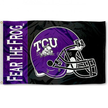 NCAA Texas Christian Football Helment Outdoor Large College Flag 3X5(China)