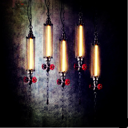 Rustic Loft Style Industrial Pendant Light Fixtures American Retro Water Pipe Vintage Lamp Hanglamp Luminaire Lampara Colgante<br><br>Aliexpress