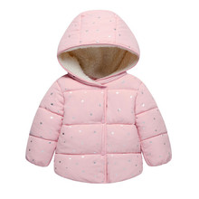 Autumn Winter Baby Outerwear Infants Girls Hooded Printed Princess Jacket Coats first birthday Gifts Cotton Padded Clothes(China)