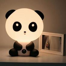 Cartoon Animal Led Table Night Light Cute Panda Bear Table Lamp Children Sleeping Indoor Living Room Decor Baby Christmas Gift
