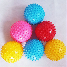 10CM Bouncing Ball toys Inflatable Jumping Bounce stress massage Health Care toy PVC Hedgehog Balls Christmas party for kids