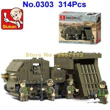 Sluban 0303 314pcs Giant Army Defend Rocket Tank Building Block Brick Toy