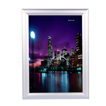 1Pc A4 Silver Poster Stand Snap Frames Aluminium Clip Wall Poster Displays Home Decorate new