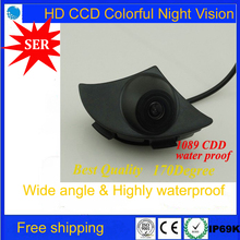 New CCD Car Front View Logo Embeded Camera For Toyota Prado HighlanWith Waterproof Wide Degree,HD CCD TOYOTA Front View Camera