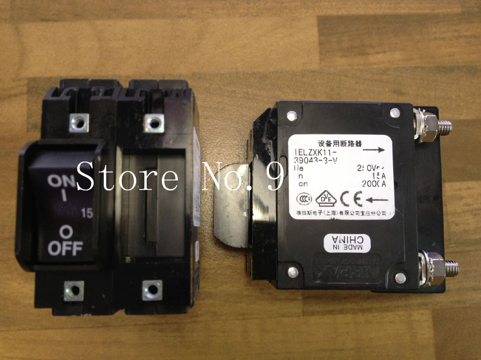 [ZOB] The United States AIRPAX Ebers IELZXK11-39043-3-V 15A2P 250V breaker  --5pcs/lot<br>