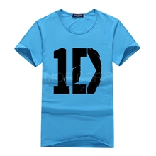 Fashion Men 1D One Direction Printed T-Shirt Multicolor Vintage Tee Shirt Discounts One Direction Round Neck Boy t-shirt S32-B#