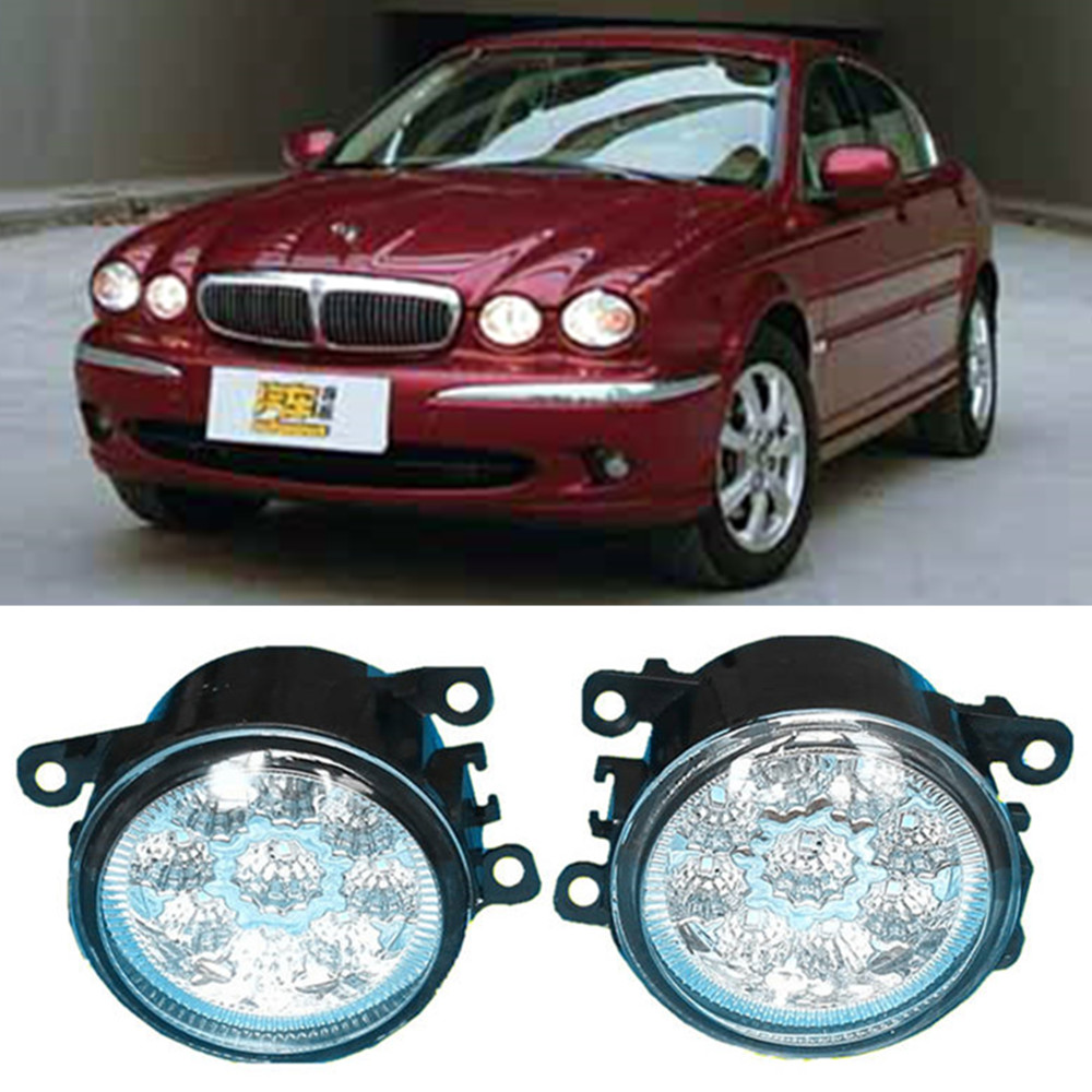 For jaguar x type cf1 saloon 2001 2009 car styling led fog lights high