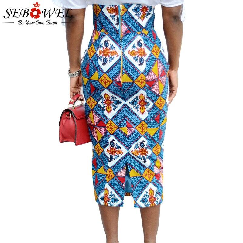 Bluish-African-Print-High-Waist-Bodycon-Pencil-Skirt-LC65104-5-3