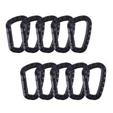 5 Pcs/pack Plastic Climbing Carabiner D-Ring Key Chain Clip Hook Camping Buckle Snap New Free Shipping