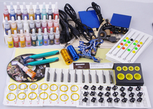 professional piercing set 2 guns complete tattoo set make up permanent tatoo machine kit(China)