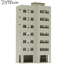 KiWarm 1/87 Scale White Building Miniatures Sand Table DIY Scaled Model for Garden Micro Landscape Ornaments Home Decor Crafts(China)