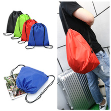 Simple Waterproof Nylon Drawstring Dust Shoes Bag Outdoor Sport Football Packback Travel Storage Pouchs(China)