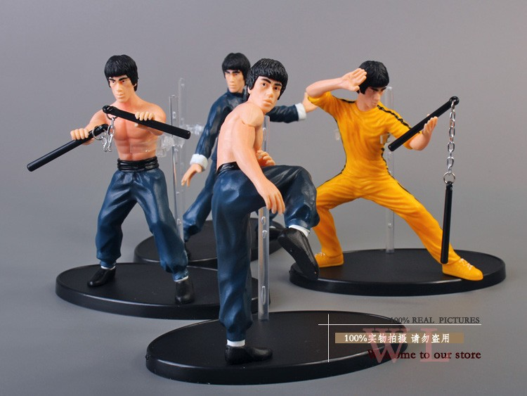 Bruce Lee Kung Fu 4pcsAction Figures PVCCollection Toys Decoration Birthday Gift