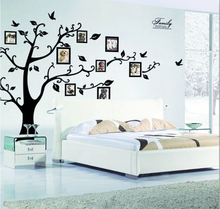 Family Photo DIY Photo Tree Flying Birds Tree Wall Stickers Arts Home Decoration Living Room Bedroom Decals Posters QL-007