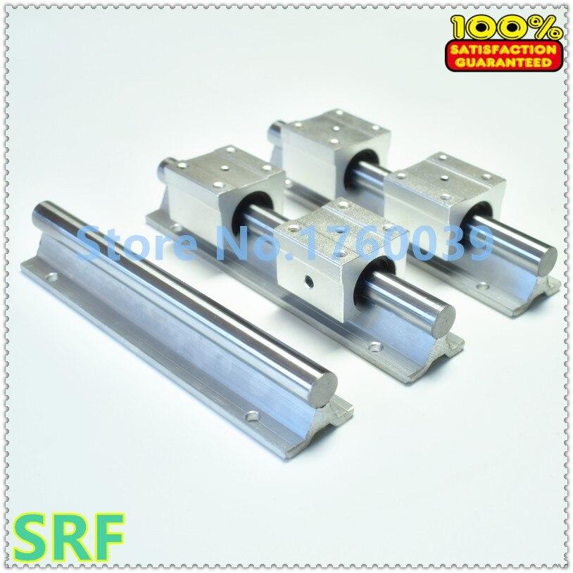 2pcs 12mm linear rail SBR12-L900mm Linear shaft rail support+ 4pcs SBR12UU bearing block for cnc<br>