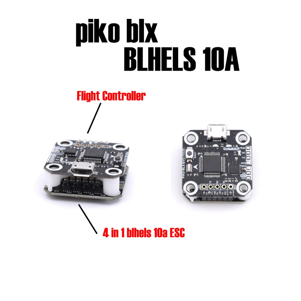 High Quality Mini Flytower F3 Flight Controller with BLhelS 10A 4 in 1 ESC PIKO BLX Firmware Update for DIY Indoor Mini Racer<br>