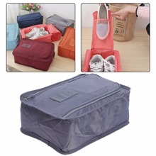 6 Colors Nylon Travel Shoes Bag Organizer Laundry Shoes Sorting Pouch Portable Organizer Storage Bags Double Zipper Travel Pouch