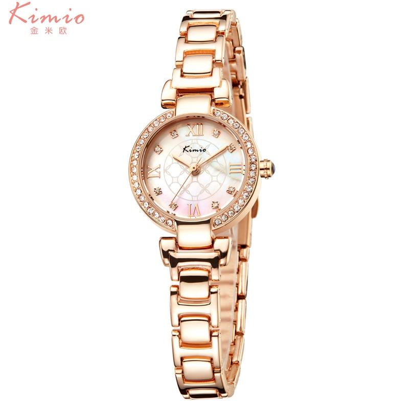 Montre Femme Brand KIMIO Women Diamond Bracelet Watches Fine Dial Luxury Casual Ladies Waterproof Stainless Steel Dress Clock <br><br>Aliexpress