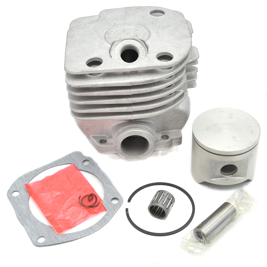 48mm Round White Color Cylinder Piston Ring Gasket Needle Bearing Kit For Husqvarna 365 Chainsaw<br>