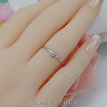 New special 925 sterling silver round  ring opening Adjustable size female models simple small ring light